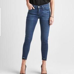 Hudson nico midrise ankle distressed raw hem jeans